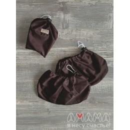 """Чехлы для обуви детские """"Гулимоны"""" (1 - 3 года), Амама (шоколадный)"""