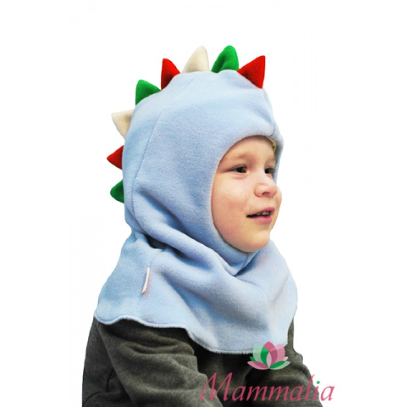 Шапка-шлем зимняя Дракоша голубой 1-2 г.