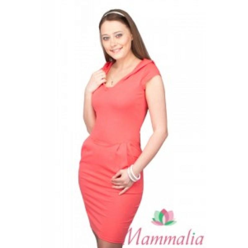 Платье с капюшоном коралл Маммалия