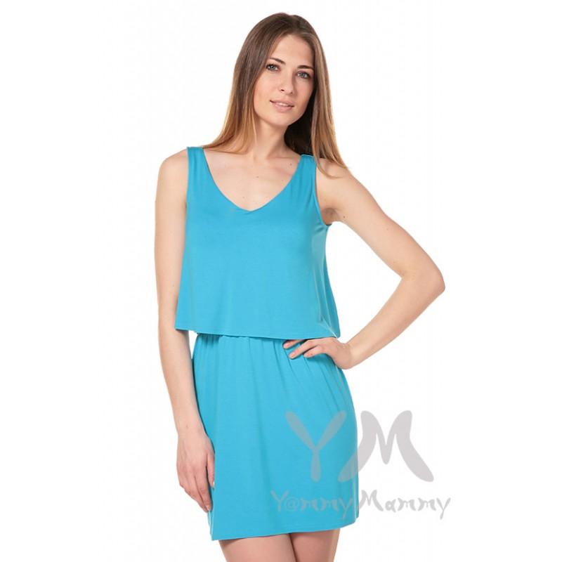 Платье Yammy Mammy бирюзовое